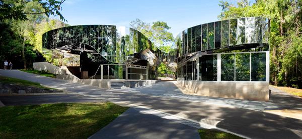 Cairns Botanic Gardens Visitors Centre.  Top photo: Sunbird House, Cairns